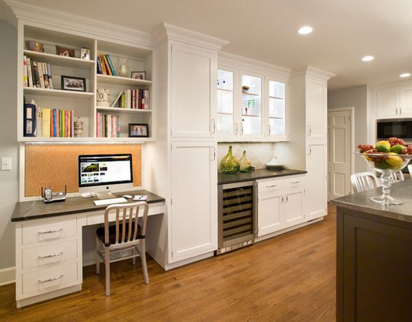 Kitchen Desk Ideas Cool 20 Clever Ideas To Design A Functional Office In Your Kitchen Decorating Design