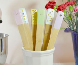Dipped & Embellished Wooden Utensils: An Easy DIY
