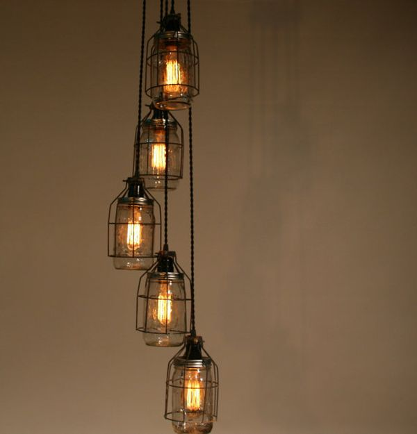 Turning mason jars into light fixtures aloadofball Images