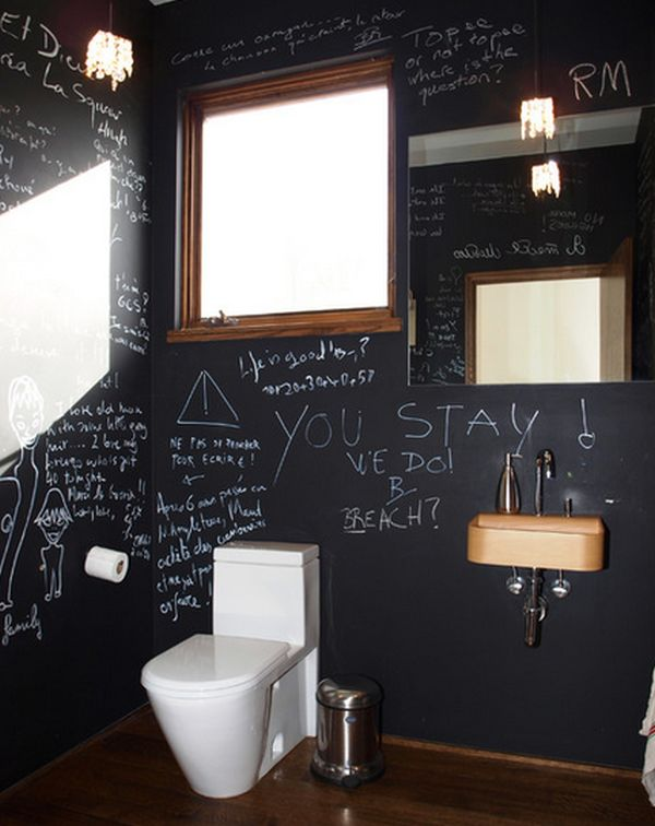 How to creatively use chalkboard paint around the house - Deco wc originale ...
