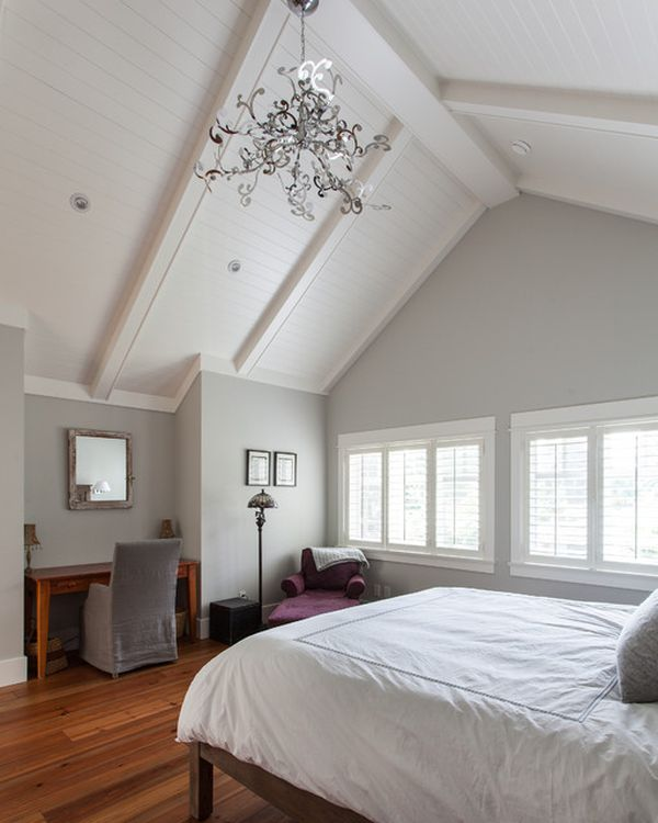 Beautiful vaulted ceiling designs that raise the bar in style for Master bedroom lighting ideas vaulted ceiling