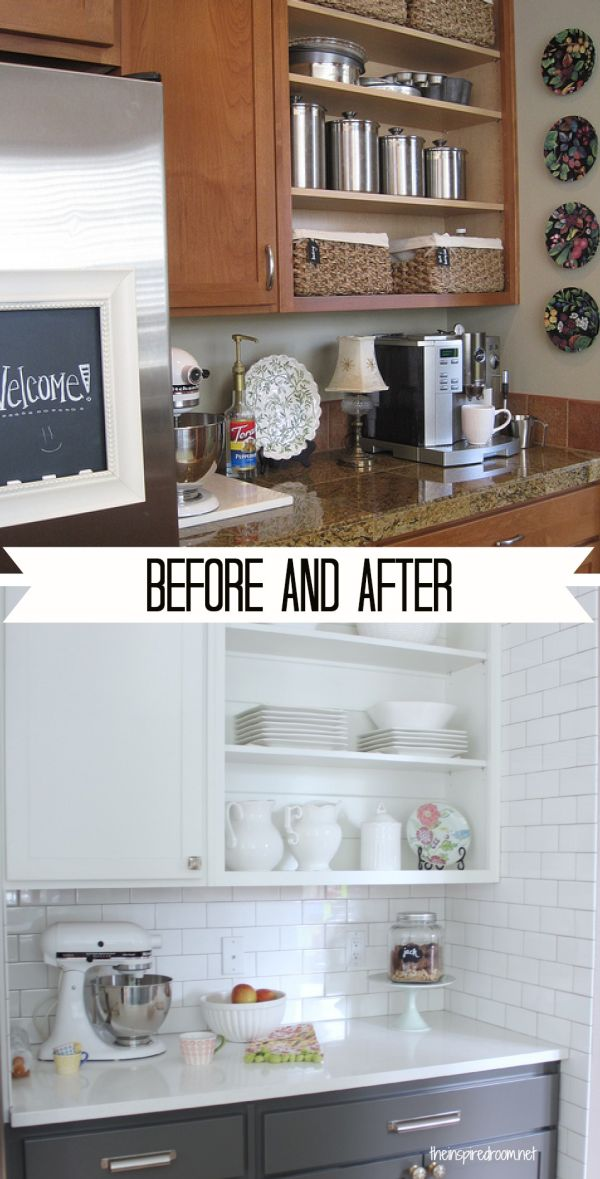 paint kitchen cabinets black before after before and after 15 kitchen makeover projects 420