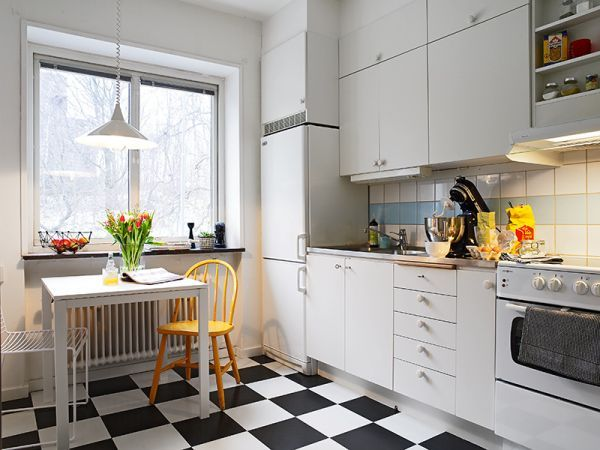 scandinavian kitchen design the appeal of checkerboard floors 2114
