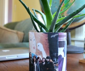 DIY Recycled Custom Photo Planter