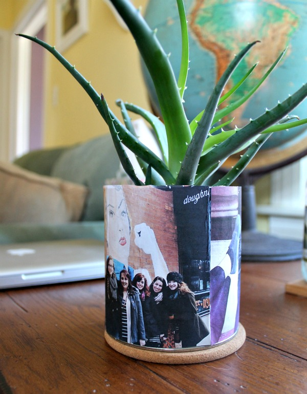 diy custom photo planter