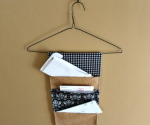 DIY Hanging Mail Organizer