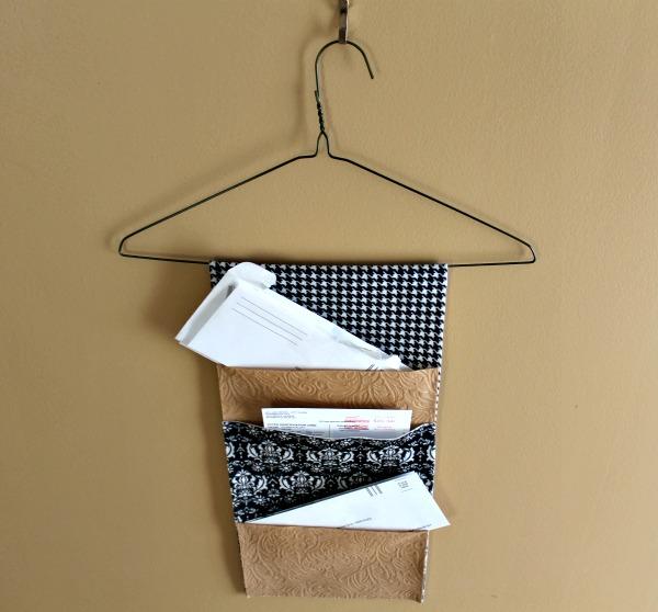 DIY Hanging Mail Organizer