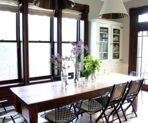 be sentimental and have a farmhouse kitchen table in your home