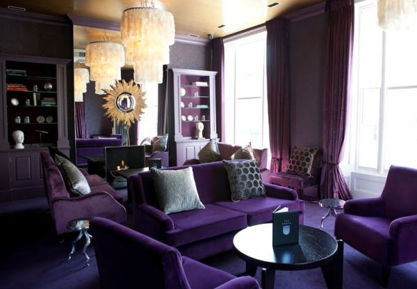 Monochromatic Rooms dipped in plum: monochromatic rooms