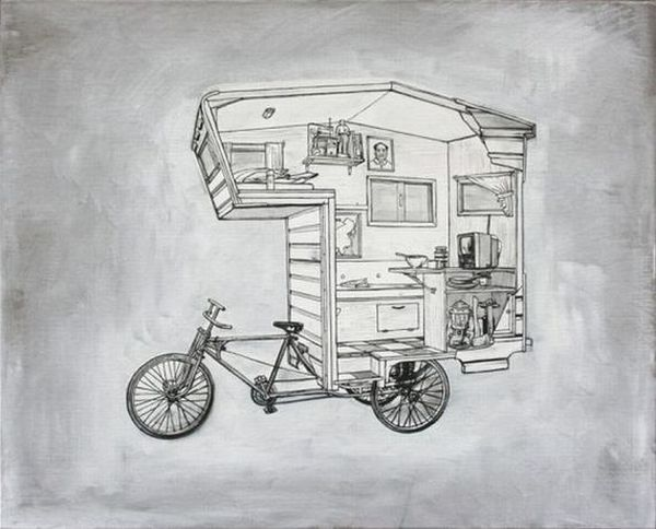 The perfect adventure homes tiny mobile and on wheels for Minimalist house on wheels