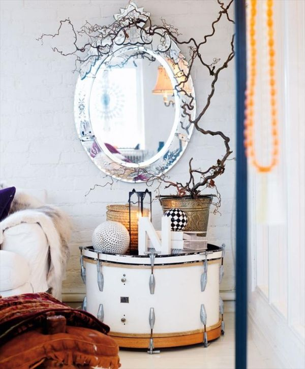 Need a table? Get a drum! & Musically Inspired Furniture And Decorations For Your Home