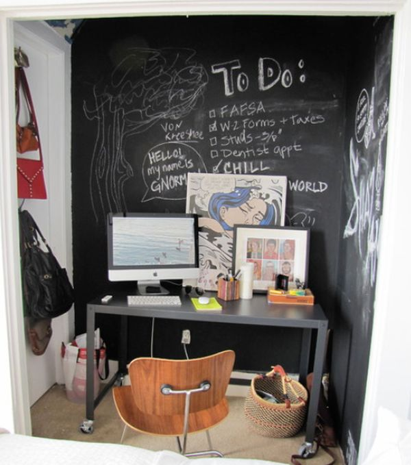 How to creatively use chalkboard paint around the house for Chalkboard paint decorating ideas