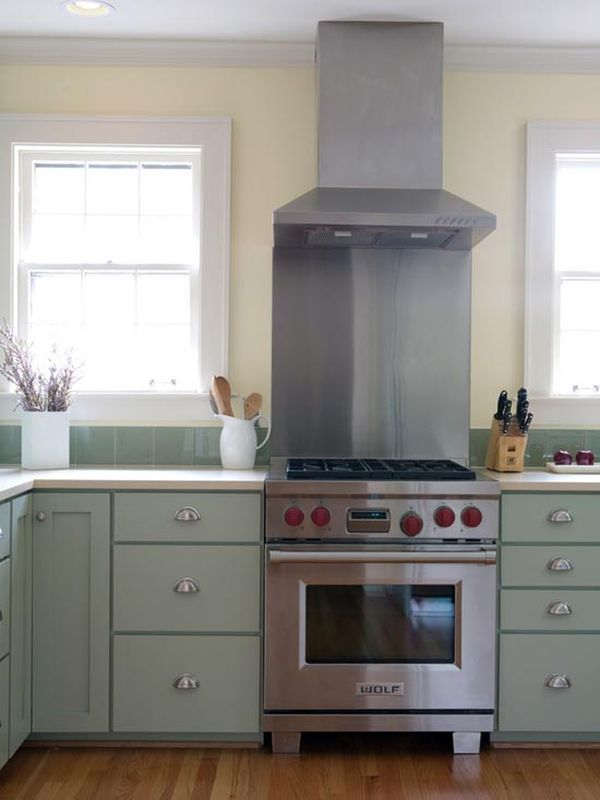 Silver Kitchens Ideas Inspiration - Green and grey kitchen ideas