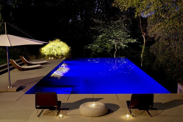 View In Gallery. Hereu0027s A Beautiful Example Of A Modern Backyard Swimming  Pool.