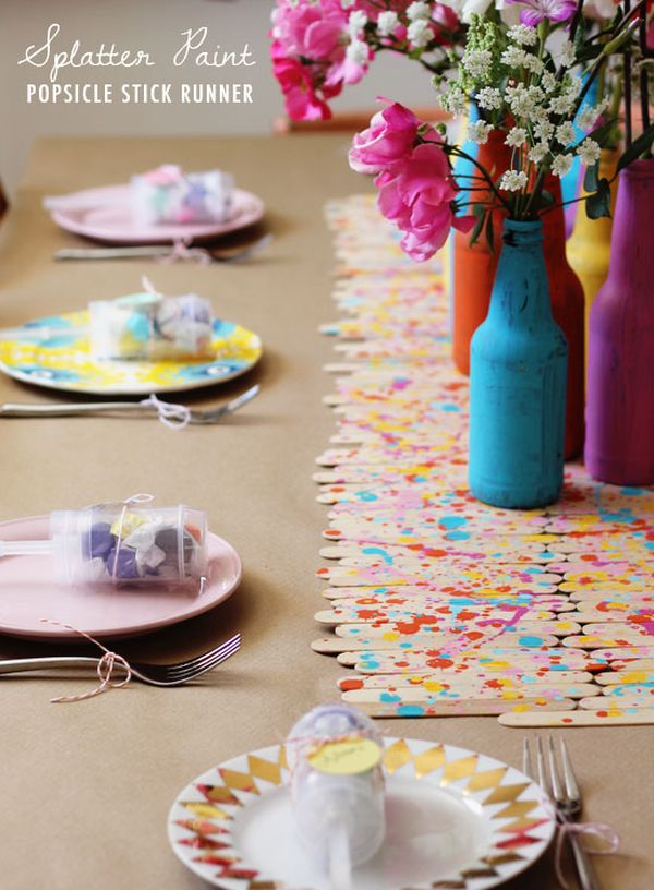 Popsicle Stick Table Runners.