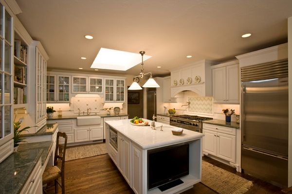 kitchen island with tv 10 ways to revamp your kitchen island 5231
