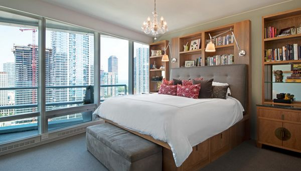 View in gallery. Cleverly Fit Storage Inside The Bed Frame To Save Space