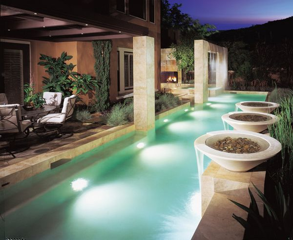 11 falling water features guaranteed to give your house a sophisticated look How to draw swimming pool water