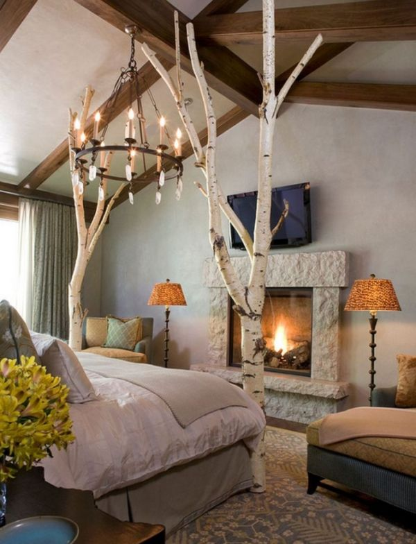 12 ways to use actual birch trees in your home. Black Bedroom Furniture Sets. Home Design Ideas