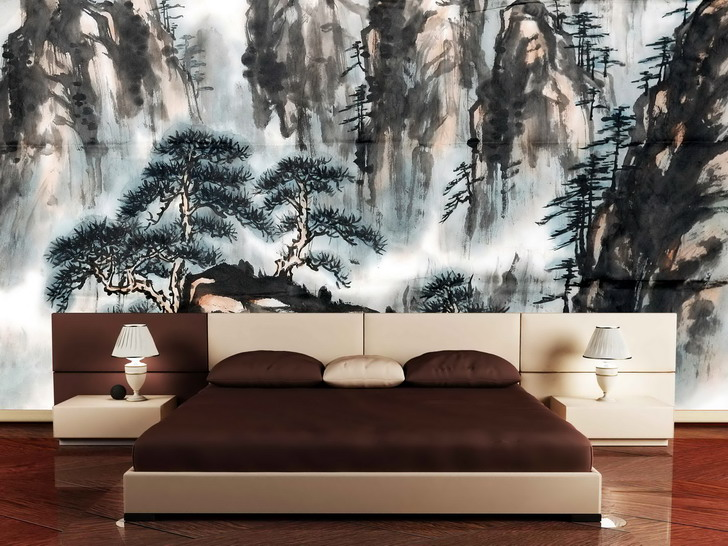 oriental bedroom asian furniture style. 11. Silkscreen(esque) Walls. Oriental Bedroom Asian Furniture Style I