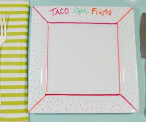 Baked Sharpie Plates: An Easy, Family-Friendly DIY