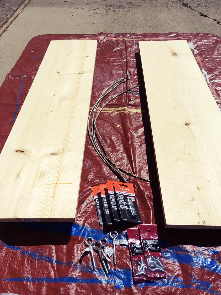 DIY How To Build An Industrial Hanging Shelf - Diy build industrial hanging shelf