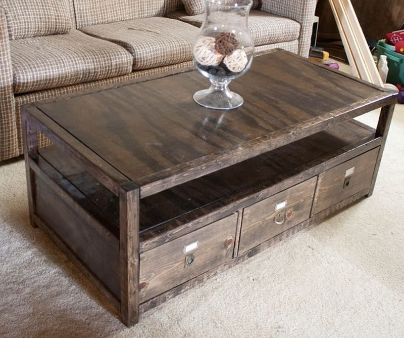Pick a suitable material for the coffee table