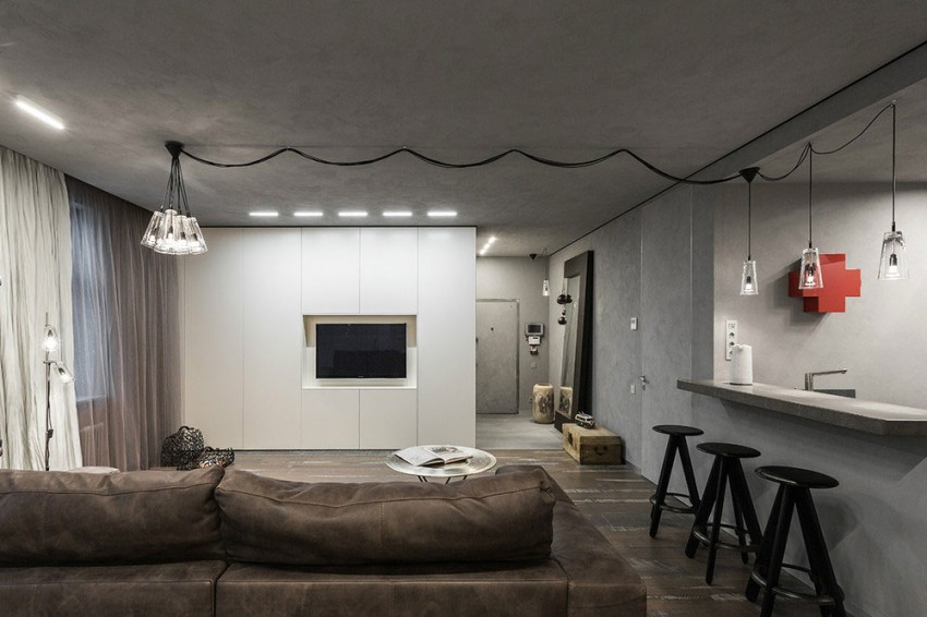 industrial studio apartment.  Modern Rustic And Industrial Meet In A Chic Moscow Studio