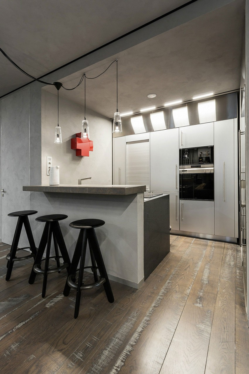 Modern Rustic And Industrial Meet In A Chic Moscow Studio