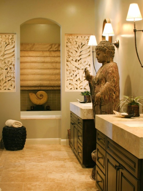 buddha themed living room incorporating asian inspired style into modern d 233 cor 14705