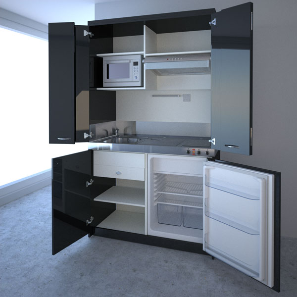 Compact kitchen designs for small spaces everything you for Kitchen design for units