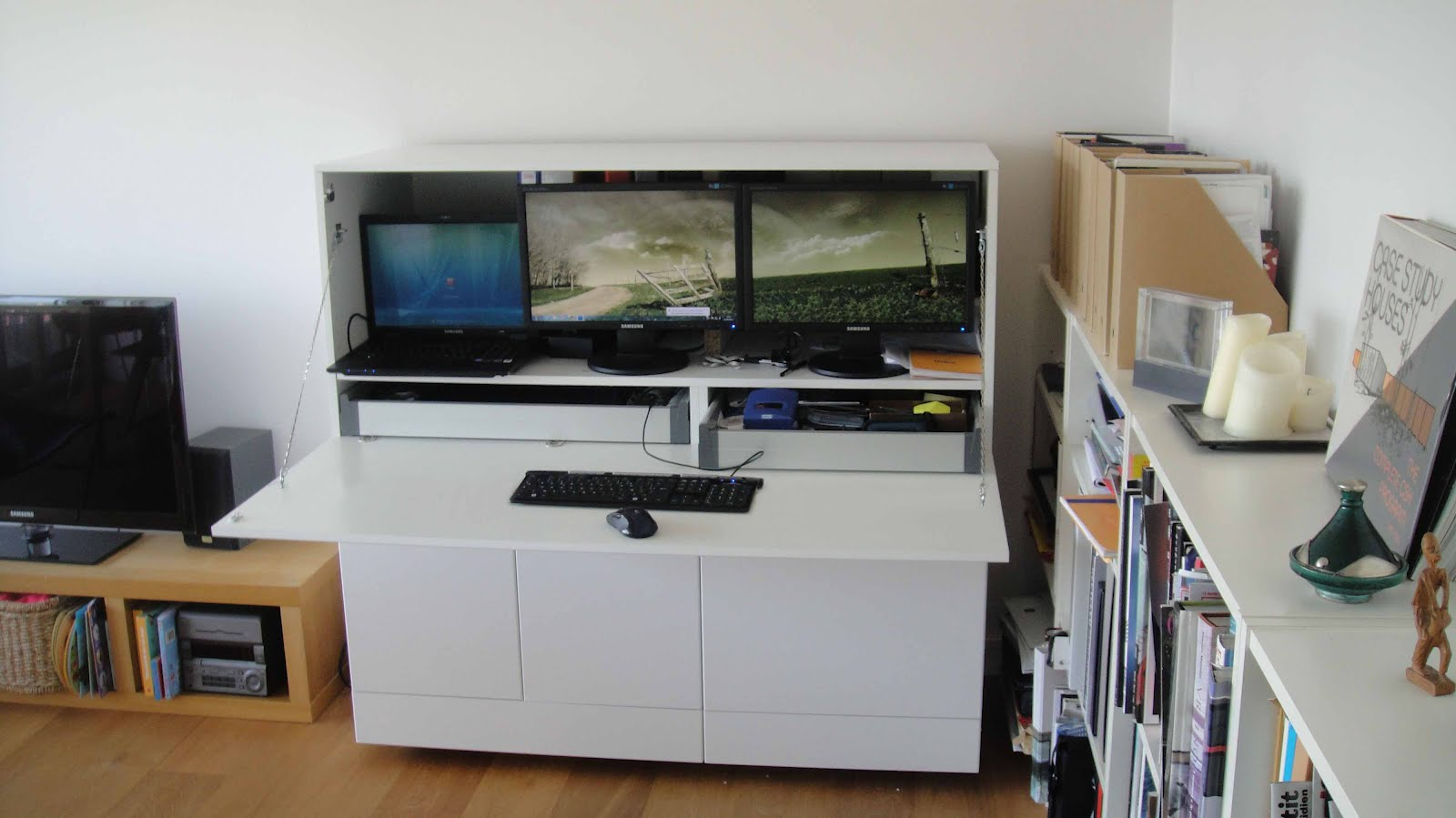 From generic office to stylish and productive home office for Hackear muebles ikea