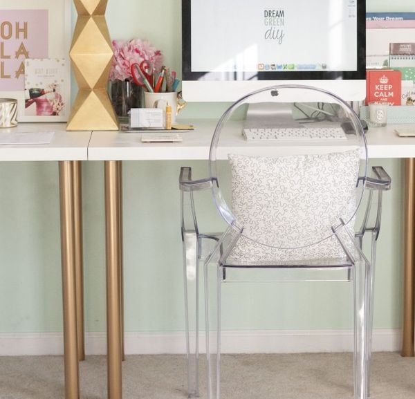 Ikea Home Office Hack from generic office to stylish and productive: home office hacks