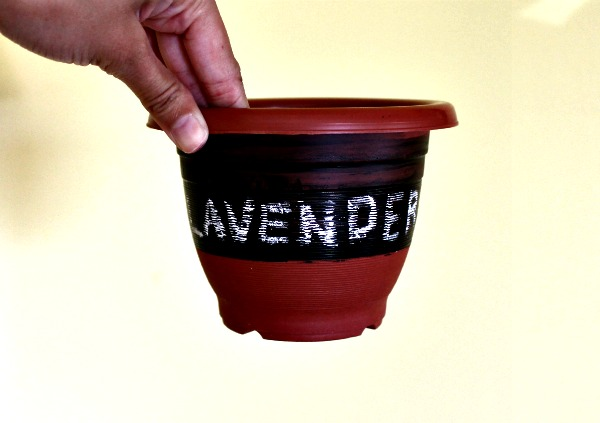 chalkboard planter pot