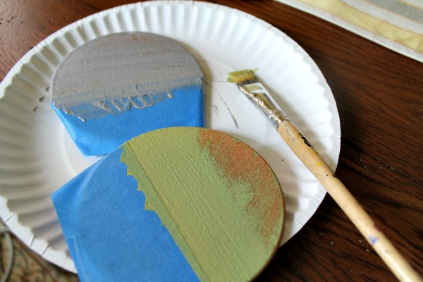 color blocked coasters