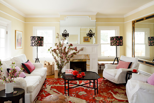 a colorful rug - Decorating Ideas For Traditional Living Rooms