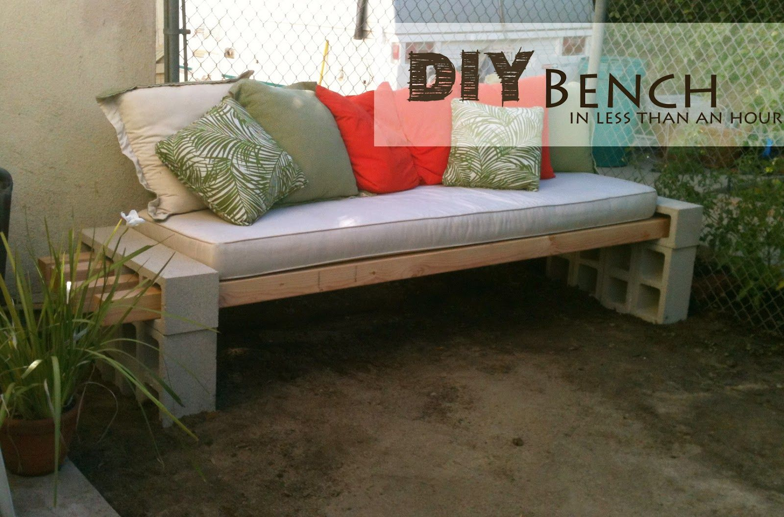 Easy diy patio furniture projects you should already start planning diy bench solutioingenieria Images