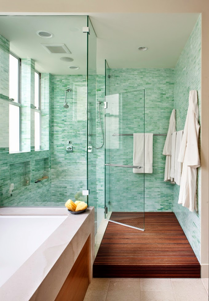 Obsessed with turquoise exotic and refreshing yet for Sea green bathroom accessories