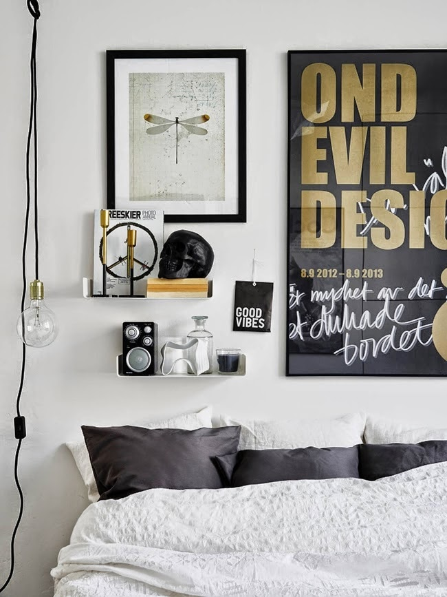 Monochromatic pad with brass and copper accents for a - Camas infantiles economicas ...