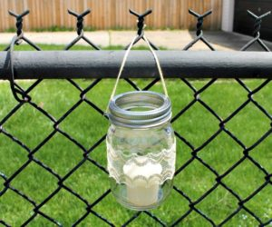 DIY Hanging Mason Jar Outdoor Candle