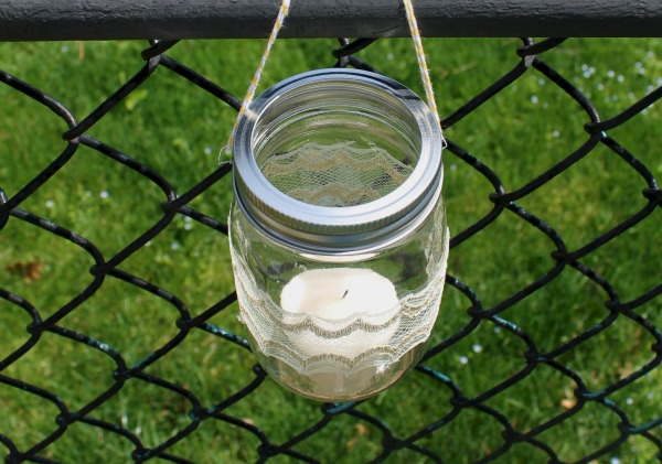 hanging glass candle