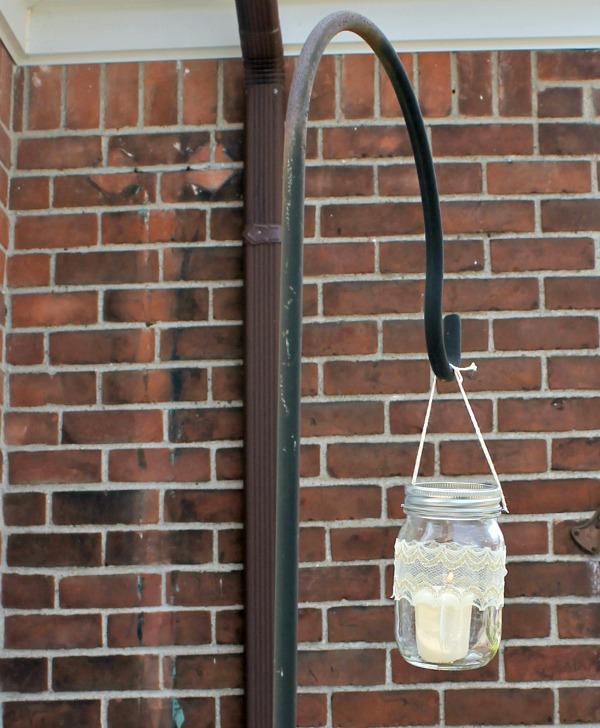 hanging mason jar candle