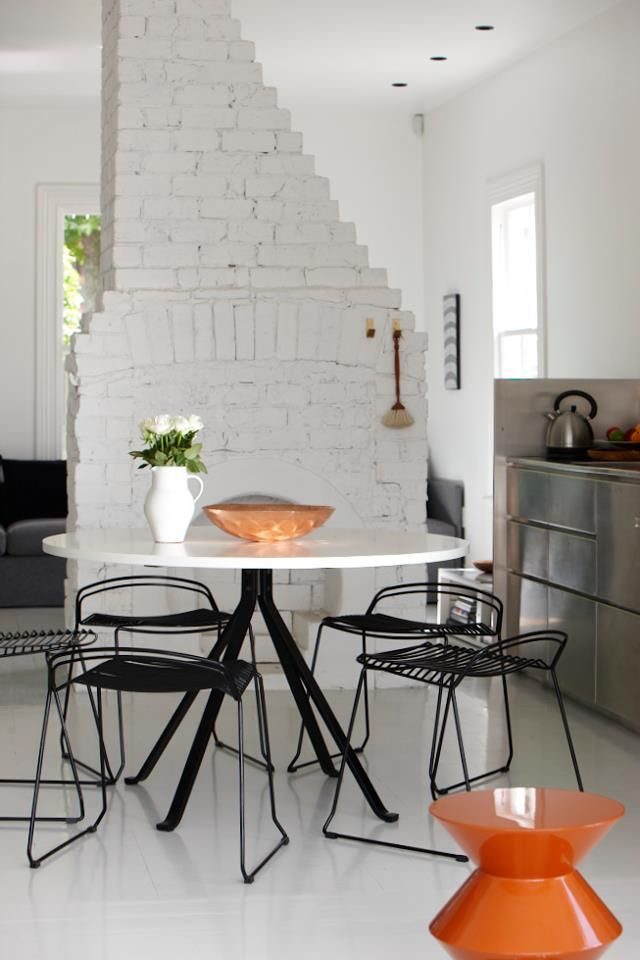 Painting Brick Walls White An Increasingly Popular Trend : kitchen bricks wall from www.homedit.com size 640 x 960 jpeg 61kB