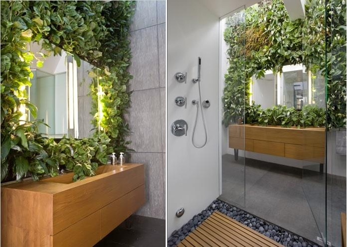 be creative and find ways to bring nature into the bathroom - Bathroom Plants