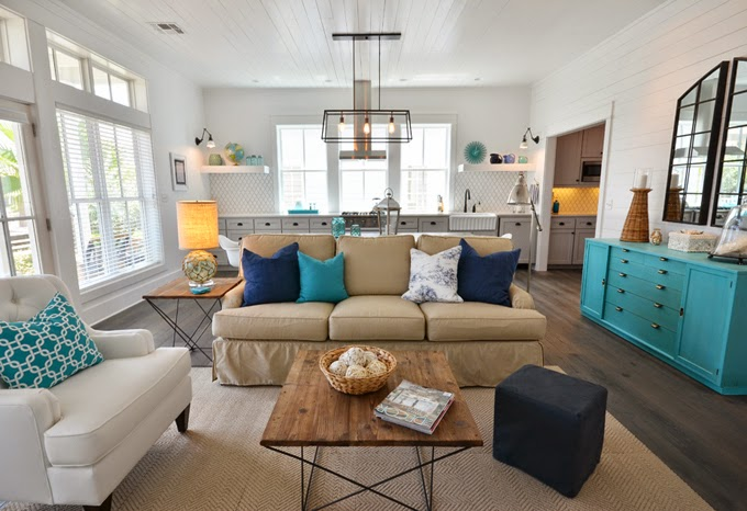 Modern beach house inspired by colors found in nature Obsessed With Turquoise Exotic And Refreshing Yet Soothing