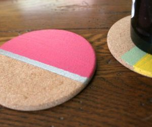 DIY Painted Striped Coasters