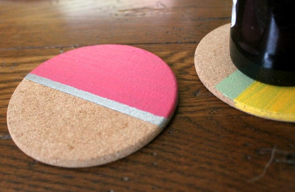 painted coasters stripes