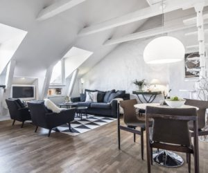Serenity And Elegance Feel Right At Home In A Monochromatic Attic Apartment