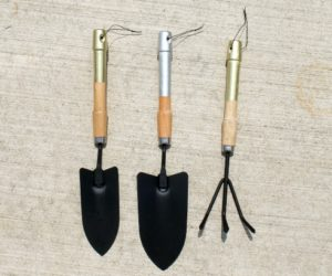 DIY Metallic Handled Garden Tools