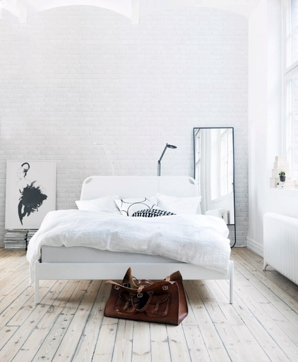 Painting brick walls white an increasingly popular trend - De quelle couleur peindre sa chambre ...